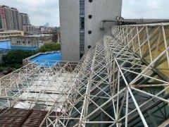 上海某宾馆钢结构网架损伤专项检测