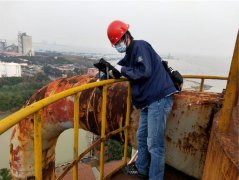 浙江嘉兴码头仓储钢结构管廊工程质量检测