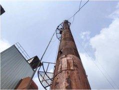 湖北孝感市钢结构烟囱安全检测